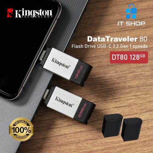Foto Produk Kingston Flash Drive USB Type-C DataTraveler 80 - 128GB dari IT-SHOP-ONLINE
