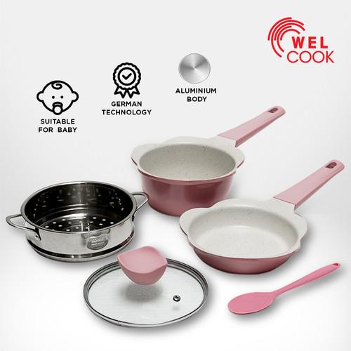Foto Produk Welcook Peralatan Panci Bayi Baby Cookware-Pink dari Welcook Cookware