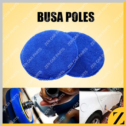 Foto Produk Aplikator Pad Busa Poles Biru Kain Spon Detailing Bulat Anti Lecet dari Zen Car Parts