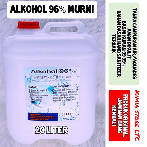 Foto Produk Alkohol 70% 20 liter / Alkohol 96% 20 Liter ( Alkohol Murni ) - Alkohol 96% dari Kimia Store..!
