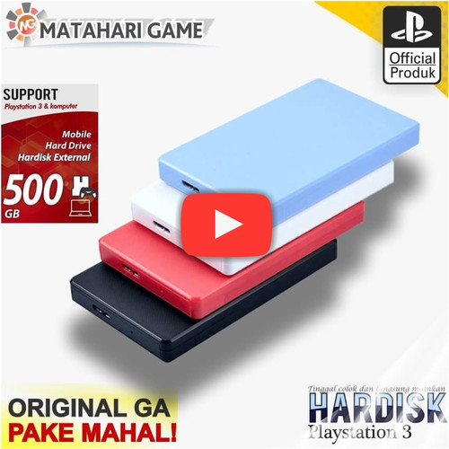 Foto Produk Hdd PS3 500GB - Hardisk ps3 External Support PS3 Full Game Terbaru dari MatahariGame