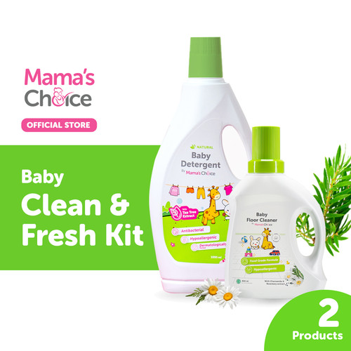 Foto Produk Mama's Choice Clean and Fresh Kit - Deterjen Bayi & Pembersih Lantai dari MamasChoiceID