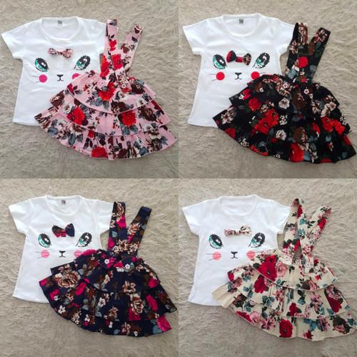Foto Produk Miiko Ruffle Overall / Overall Bayi Perempuan / Baju Bayi Perempuan dari kat.babyclothing