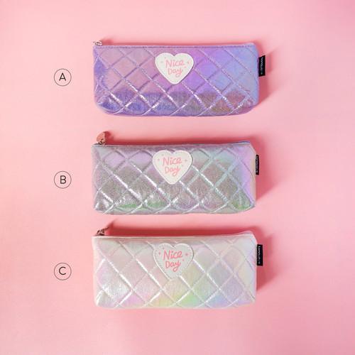 Foto Produk Nice Day Shiny Leather Pencil Case / Tempat Alat Tulis / Tempat Pensil - VARIAN A dari Pinkabulous