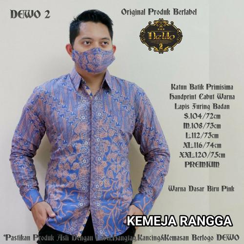 Foto Produk kemeja batik slimfit rangga biru dari Jivan Batik