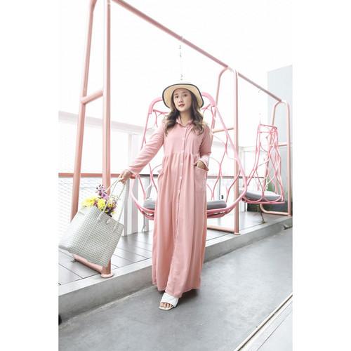 Foto Produk Yoenik Apparel Full Button Panya Dress Dusty M15010 R15S3 dari Yoenik Apparel
