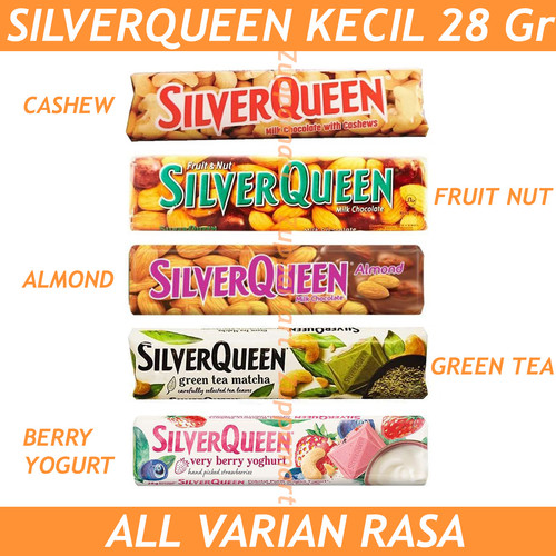 Foto Produk SILVERQUEEN Milk Chocolate All Varian 28 Gr - Cokelat Susu - Fruit & Nut dari Zuppa Mart