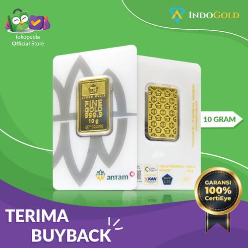 Foto Produk Emas Antam 10 Gram Logam Mulia Garansi Uang Kembali Include Sertifikat dari IndoGold