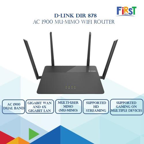 Foto Produk D-Link DIR-878 AC1900 MU-MIMO Gigabit Wireless Router DLink DIR878 dari First Media Store