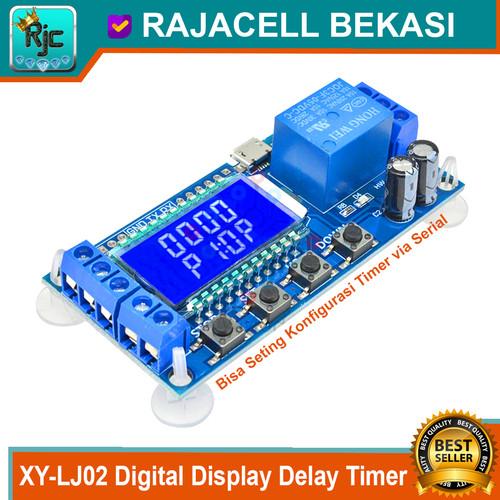 Foto Produk XY-LJ02 Digital LCD Display Delay Timer Module 10A bisa Serial Command dari RAJACELL BEKASI