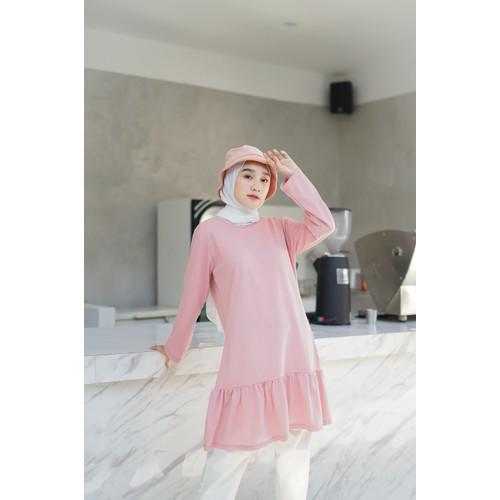 Foto Produk Mybamus Hanun Shirr Tops Dusty Pink M12586 R6S5 dari Mybamus Official