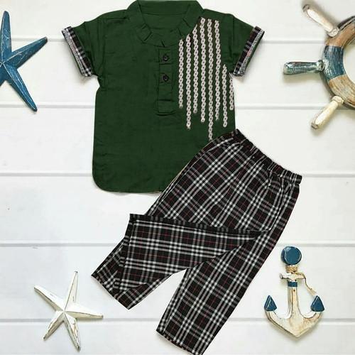 Foto Produk Setelan Baju Koko Celana Sarung/Fashion Muslim/Fashion Anak Laki/New - army dari lapickmeupstores