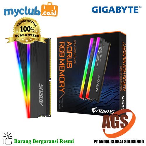 Foto Produk Gigabyte AORUS RGB Memory DDR4 16GB (2x8GB) 3333MHz dari Myclub