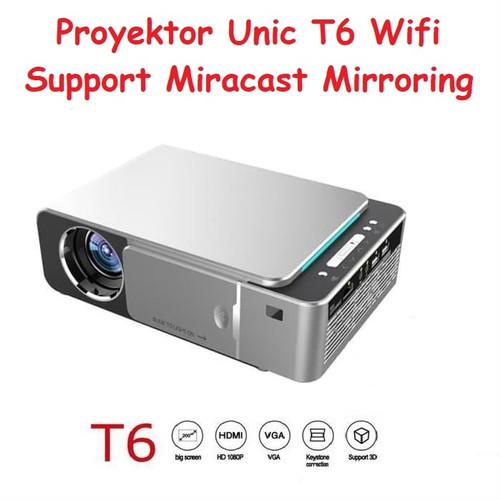 Foto Produk Proyektor Projector Unic T6 With Miracast Mirroring 80 ANSI Lumens dari Trimega Store BDG