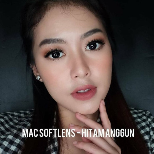 Foto Produk SOFTLENS X2 MAC Big eyes 16mm - Hitam Anggun, Minus dari K-Soft Softlens Korea