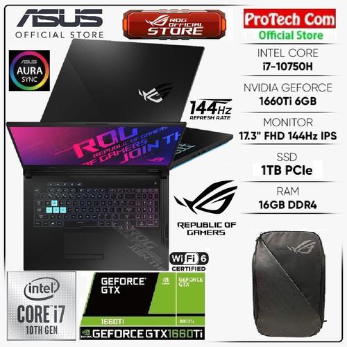 Foto Produk ASUS ROG STRIX G712LU-I766B6T i7-10750H 16GB 1TB GTX1660Ti 6GB 144Hz dari Protech Computer