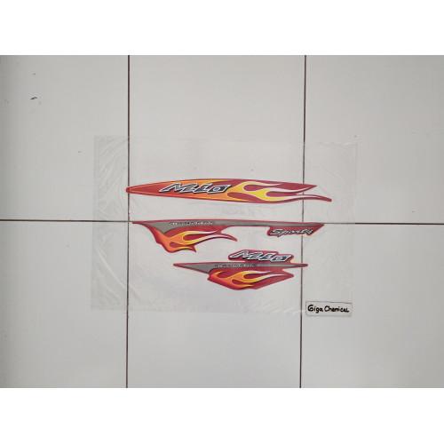 Foto Produk Striping Sticker Lis Yamaha Mio Sporty 2006 2007 Merah dari gigachemical