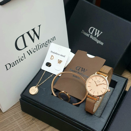 Foto Produk jam tangan wanita fashion analog paket kado ulang tahun mewah - Rosegold dari Hi-Watch Official