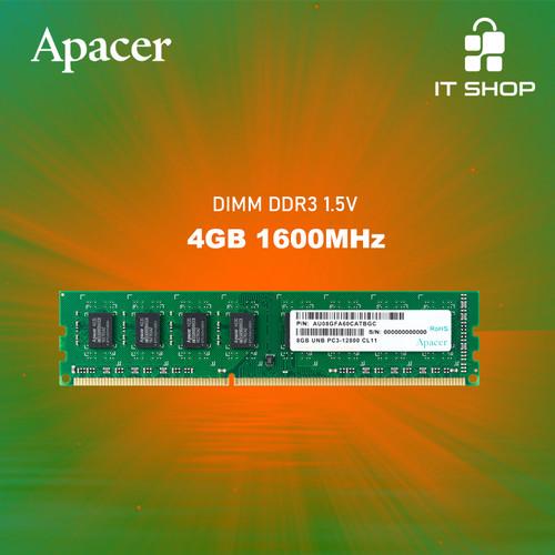 Foto Produk APACER Memory Module LongDimm DDR3 4GB 1600 dari IT-SHOP-ONLINE