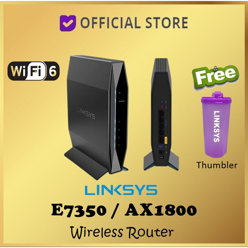 Foto Produk Linksys E7350 Dual-Band AX1800 WIFI 6 Wireless Router E 7350 AX 1800 dari DUNIA COMPUTER & SERVICE