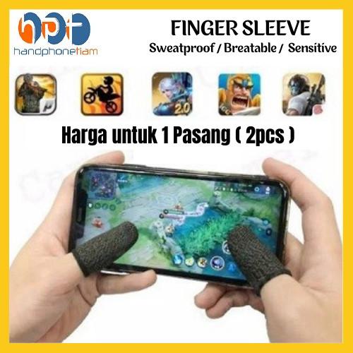 Foto Produk Finger Cots / Sarung Tangan Jempol 2pcs 1 Pasang Jari for Game PUBG ML dari HandphoneTiam