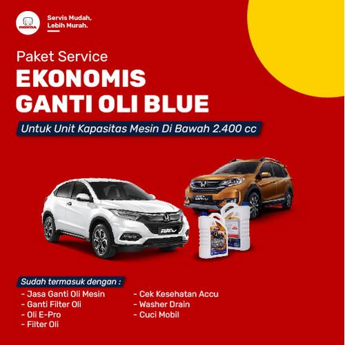 Foto Produk Paket Servis Ekonomis Ganti Oli Blue dari Honda Bintang Madiun