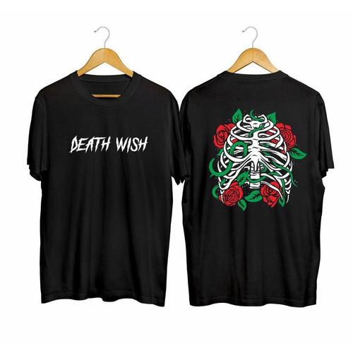 Foto Produk Kaos Pria Distro Death Wish TOP149 Fashion Pria Baju Pria Pakaian Pria - Hitam, L dari MYPCollection