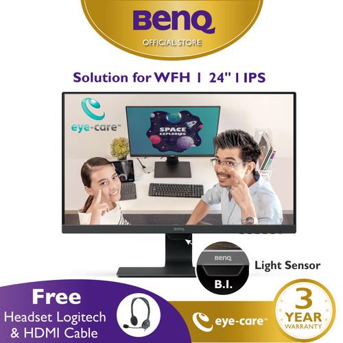 Foto Produk BenQ GW2480 24inch IPS Full HD HDMI LED Entertainment Eye Care Monitor dari BenQ Official Store