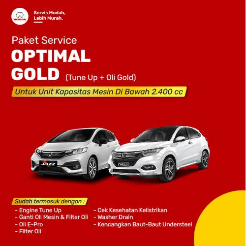 Foto Produk Paket Servis Optimal Gold (Tune Up + Oli Gold) dari Honda Bintang Madiun