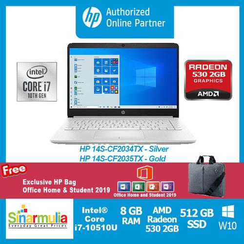 Foto Produk HP 14S-CF2035TX Core™ i7-10510U 8 GB RAM - 512 GB SSD - Win.10 - Silver dari Sinarmulia Sukses Makmur