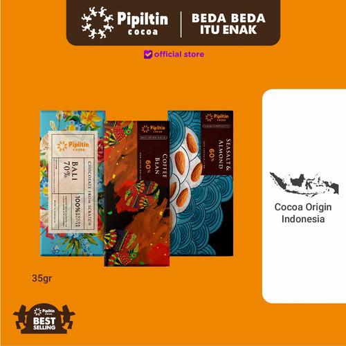 Foto Produk Pipiltin Cocoa Chocolate - Chocolate Package 3 Bar 35gr dari Pipiltin Cocoa