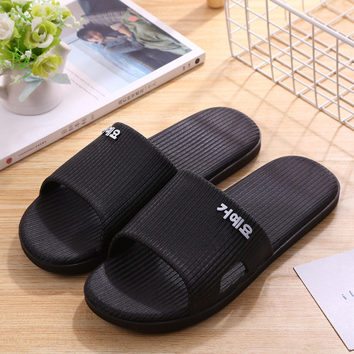 Foto Produk Sandal Rumah Sandal Hotel Pria Empuk Anti Selip - Hitam, 40/41 dari Alomi Shoes