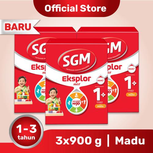 Foto Produk Paket 3 - SGM Eksplor 1 Plus Susu Pertumbuhan 1-3 Thn Madu 900g dari SGM Official Store