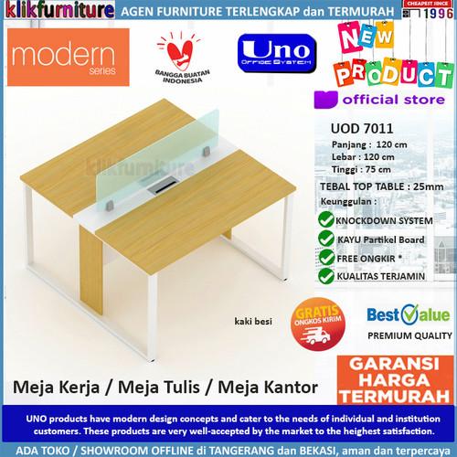 Foto Produk UOD 7011 UNO Set Meja Kerja Meja Kantor Meja Tulis Kaki Besi dari klikfurniture