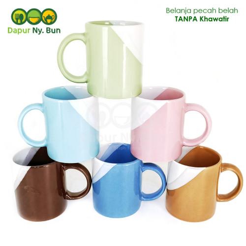 Foto Produk Mug Gagang Two Tone 2 Warna Ukuran 300ml dari Dapur Ny.Bun