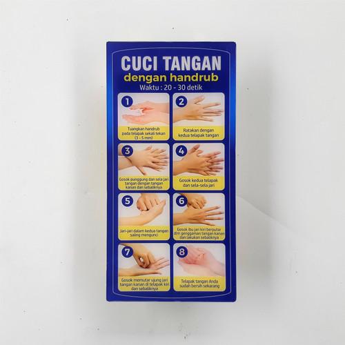 Foto Produk Akrilik Petunjuk Cuci Tangan dengan Handscrub dari Syafana