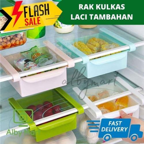 Foto Produk Rak Kulkas - Laci Tambahan Serbaguna - Hijau muda dari cabokimurah