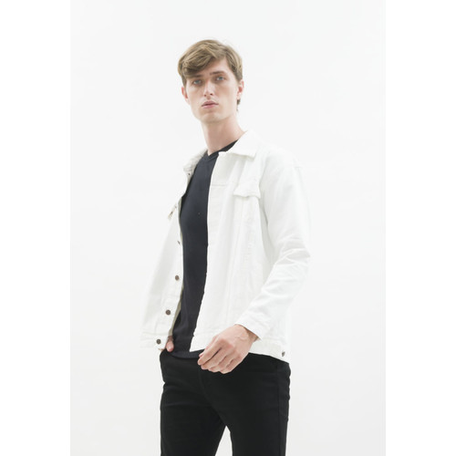 Foto Produk Jaket Jeans Pria Polos Tebal Dilan Jaket Denim Putih dari House of Cuff