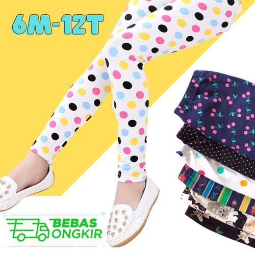 Foto Produk Legging Anak Perempuan Motif Celana Panjang Leging Anak Perempuan - XS (6-12Bln) dari IBABYKIDS