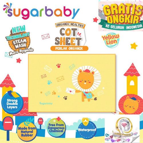 Foto Produk Sugar Baby Perlak Bayi Organic Healthy Cot Sheet Rubber / Perlak Karet - Yellow Lion dari SUPER PRICE