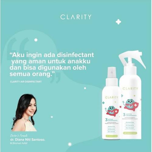 Foto Produk Clarity Spray 250ml Non Alkohol dari Clarity Air Disinfectant Offical
