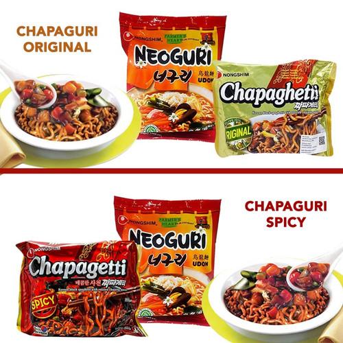 Foto Produk CHAPAGURI RAMDON (CHAPAGHETTI & NEOGURI) / MIE INSTANT PAKET PARASITE - ORIGINAL dari Korean Jjang