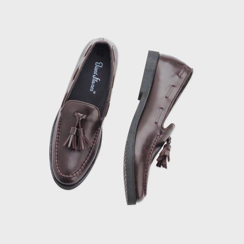 Foto Produk Giant Flames - Sepatu Pria Casual Slip On Pantofel Loafer Porto Brown - Cokelat, 41 dari GiantFlames