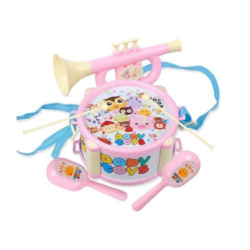 Foto Produk mini drum set anak / mainan alat musik bayi - Merah Muda dari hafami olshop