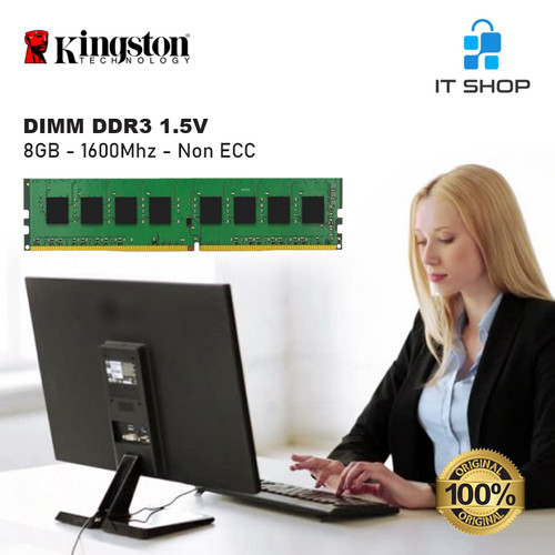 Foto Produk Kingston Memory LongDimm 8GB DDR3 - 1600 KVR16N11/8 dari IT-SHOP-ONLINE