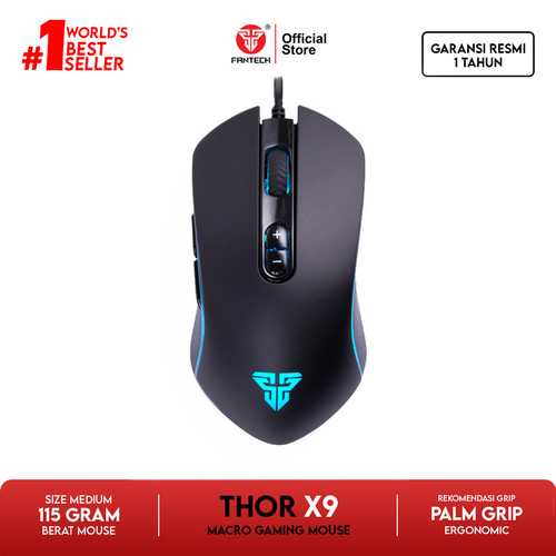 Foto Produk Fantech Gaming Mouse X9 THOR Standart Macro dari Fantech Official Store