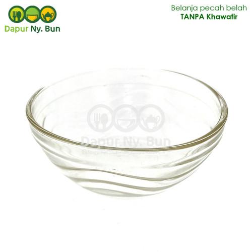 Foto Produk Mangkok Mini Kaca Bening GELOMBANG Ukuran 3,5 Inch / Mangkuk Sambal dari Dapur Ny.Bun