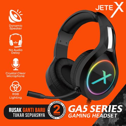Foto Produk Headset Gaming | Headphone Gaming RGB JETE-X GA5 Series - Garansi 1th dari Doran Gadget
