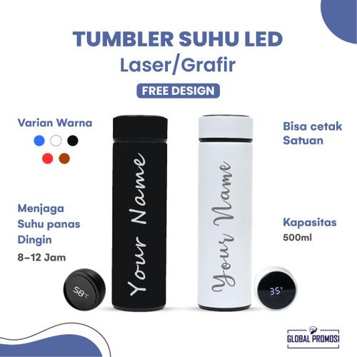 Foto Produk Custom Termos Tumbler LED Suhu Temperatur H220 Souvenir/Promosi Grafir - Hitam dari Global Promosi Official
