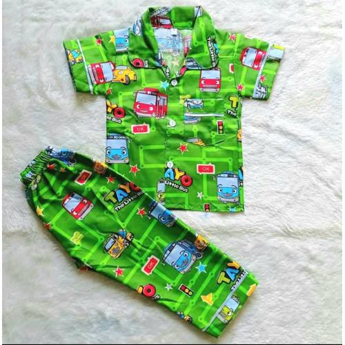 Foto Produk Piyama Anak Tayo/Baju Tidur Anak Laki Laki - Hijau, S dari SABAL COLLECTION
